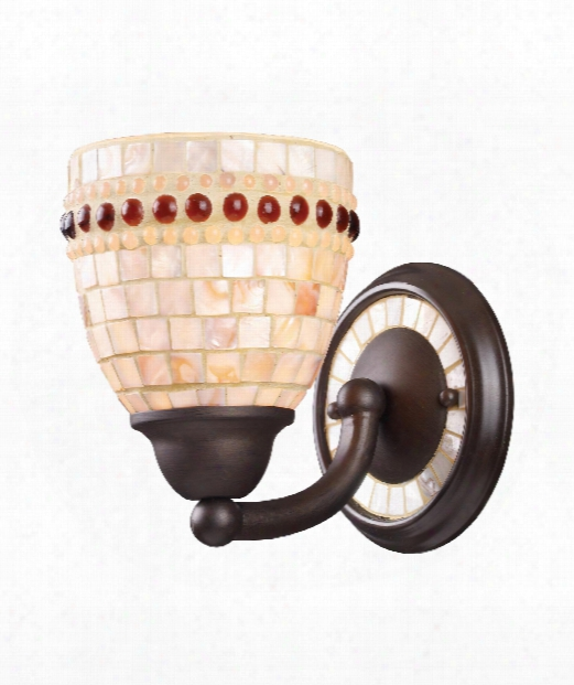 """Roxana 6"""" 1 Light Wall Sconce In Aged Bronze"""