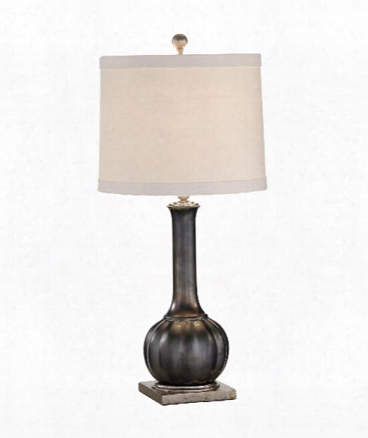 Santa Clara Wedding 1 Light Table Lamp In Metallic Pewter