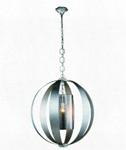 """Serenity 30"""" 1 Light Large Pendant I Vintage Silver Leaf"""