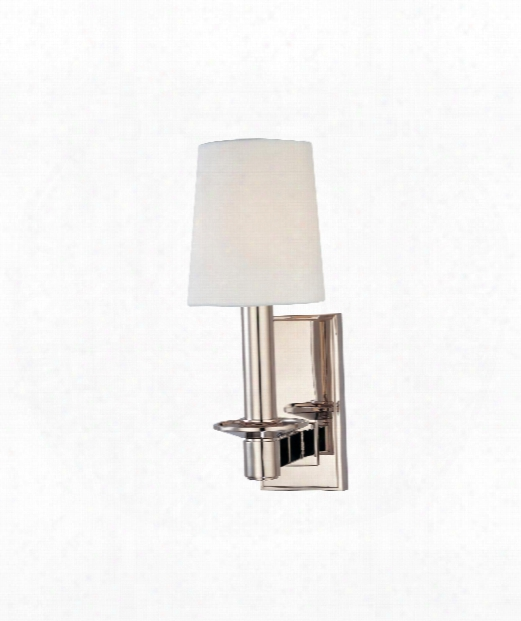 "Spencer 4"" 1 Light Wall Sconce In Polished Nickel"