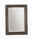 "Adalwin 32"" Wall Mirror in Distressed Dark Bronze"