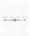 "Mercury 32"" 4 Light Bath Vanity Light in Polished Chrome"