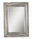 """Seymour 35"""" Wall Mirror in Painted Silver"""