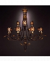 "Villa 1919 51"" 12 Light Chandelier in Warm Rich Umber"