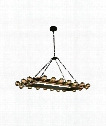 "Winston 21"" 20 Light Mini Chandelier in Golden Iron & Vintage Bronze"