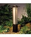 """Zen Garden 7"""" 1 Light Outdoor Bollard in Olde Bronze"""