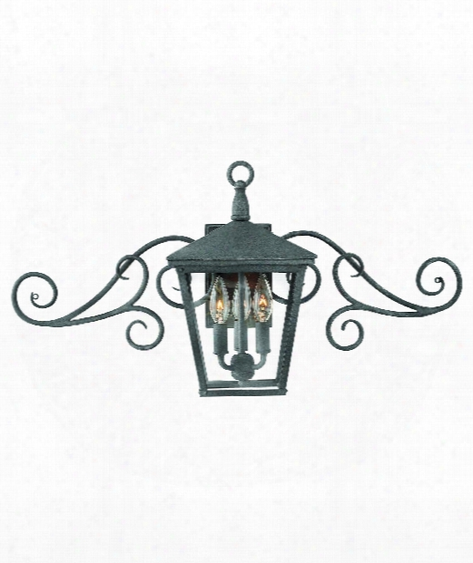 "Trellis 30"" 3 Light Outdoor Outdoor Wall Light In Aged Zinc"