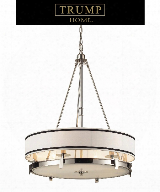 "Tribeca 24"" 6 Light Large Pendant In Polished Nickel"