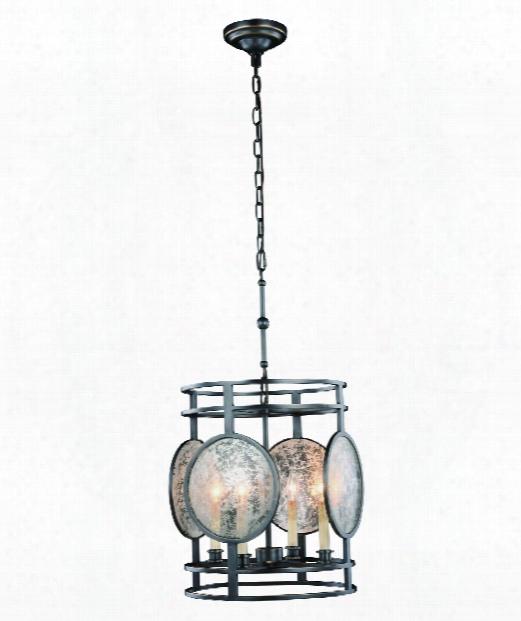 "Twilight 15"" 4 Light Mini Pendant In Bronze"