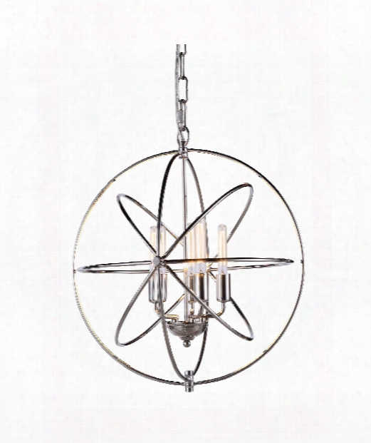 "Vienna 20"" 5 Light Large Pendant In Polished Nickel"