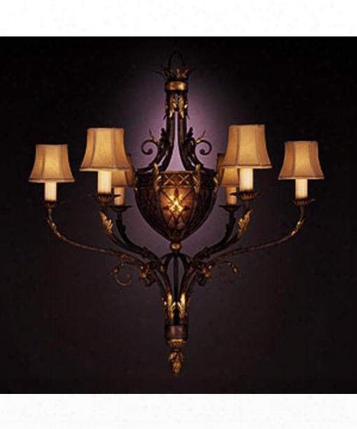 """Villa 1919 39"""" 7 Light Chandelier In Warm Rich Umber"""
