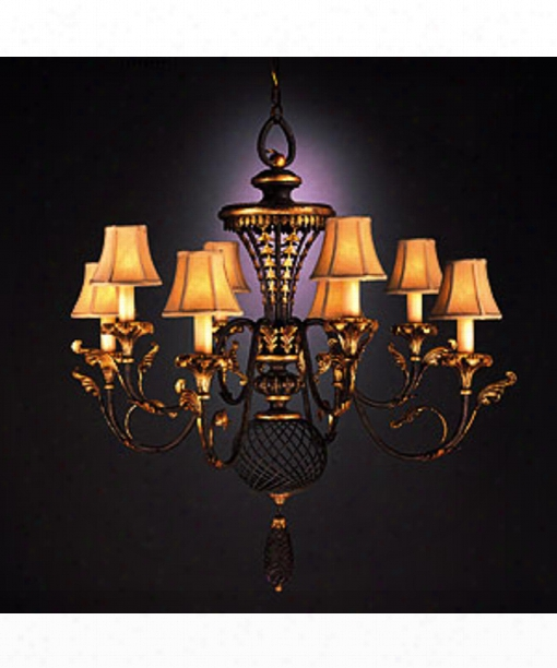 "Villa 1919 40"" 8 Light Chandelier In Warm Rich Umber"