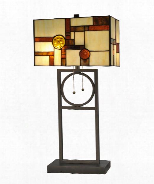 "Boca Raton 13"" 2 Light Table Lamp In Dark Bronze"