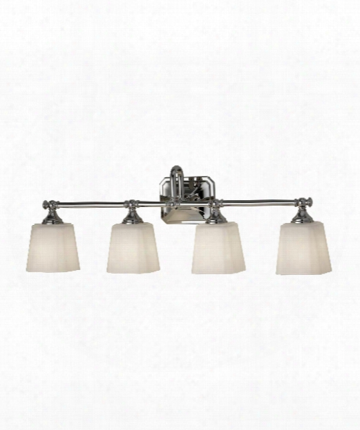 "Concord 30"" 4 Light Bath Vanity Light In Polished Nickel"