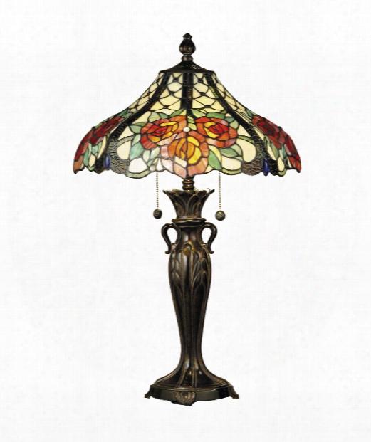 "Hazlett 17"" 2 Light Table Lamp In Fieldstone"
