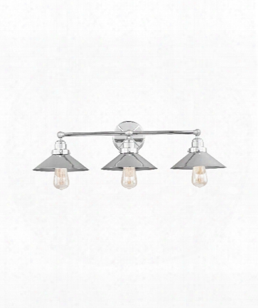 "Hooper 32"" 3 Light Bath Vanity Light In Chrome"