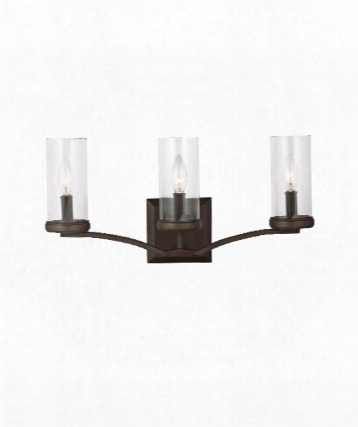"Jacksboro 21"" 3 Light Bath Vanity Light In Dark Antique Copper - Antique Copper"