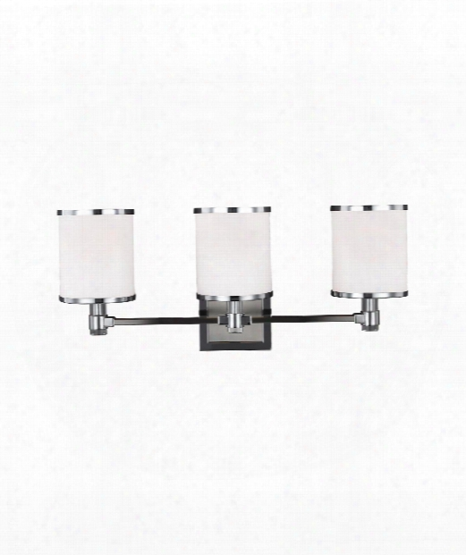 "Prospect Park 23"" 3 Light Bath Vanity Light In Satin Nickel - Chrome"