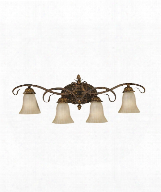 """Sonoma Valley 35"""" 4 Light Wall Sconce In Aged Tortoise Shell"""