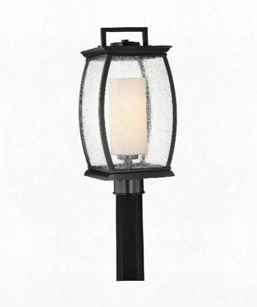 "Terrace 9"" 1 Light Outdoor Outdoor Post Lamp In Mystic Black"