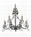 "Pissaro 31"" 12 Light Chandelier in Majestic Silver"