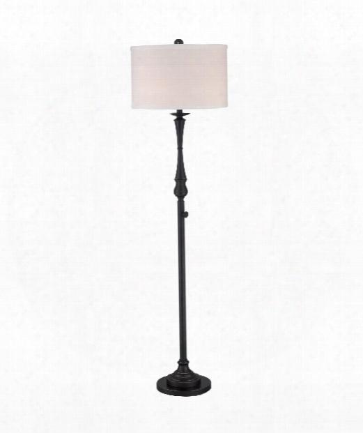 "Vivid Collection Ambrose 17"" 3 Light Floor Lamp In Palladian Bronze"