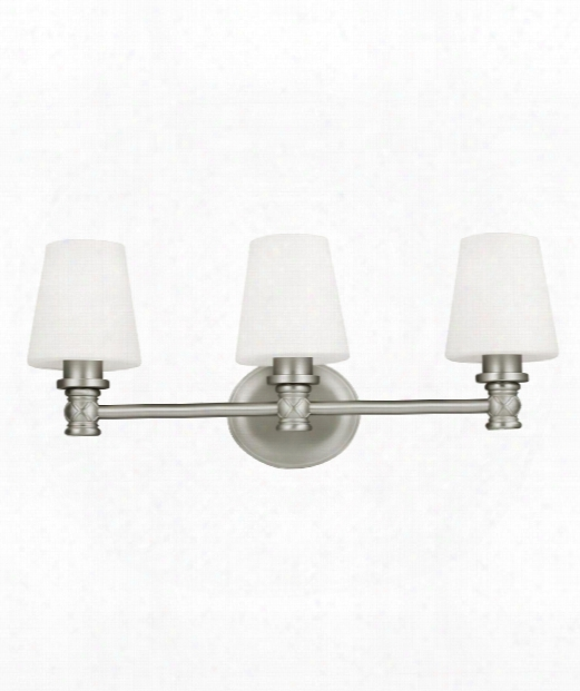 "Xavierre 23"" 3 Light Bath Vanity Light In Satin Nickel"