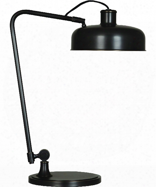 "Albert 10"" 1 Light Desk Lamp In Bronze"