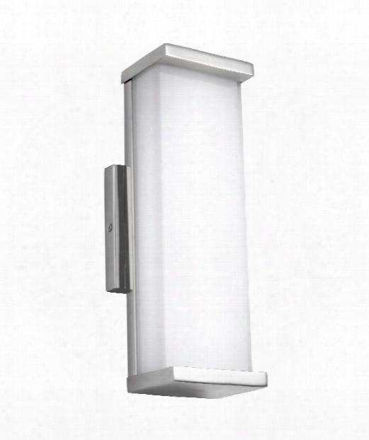 """Altron 5"""" Led 1 Light Outdoor Outdoor Wall Light In Polished Stainless Steel"""