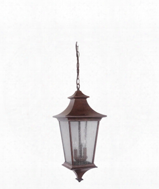 "Argent Ii 10"" Led 1 Light Outdoor Outdoor Hanging Lantern In Aged Bronze"