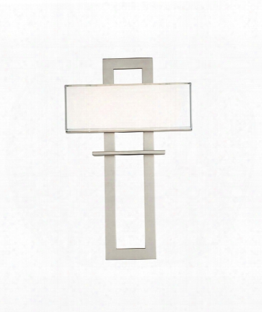 """Avalon 14"""" Led 1 Light Wall Sconce In Satin Nickel"""
