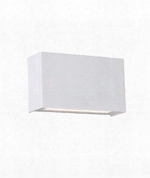 """Blok 12"""" Led 1 Light Wall Sconce In White"""