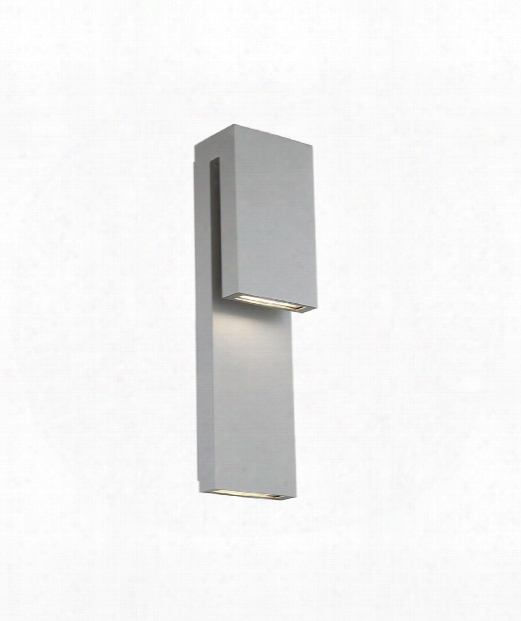 """Double Down 4"""" Led 1 Light Outdoor Outdoor Wall Light In Graphite"""