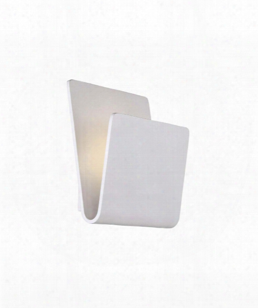 "Fold 9"" Led 1 Light Wall Sconce In White"