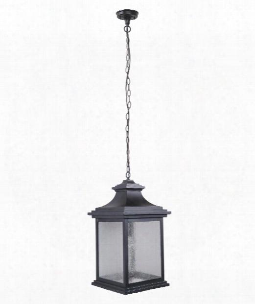 "Gentry 12"" 1 Light Outdoor Hanging Lantern In Midnight"