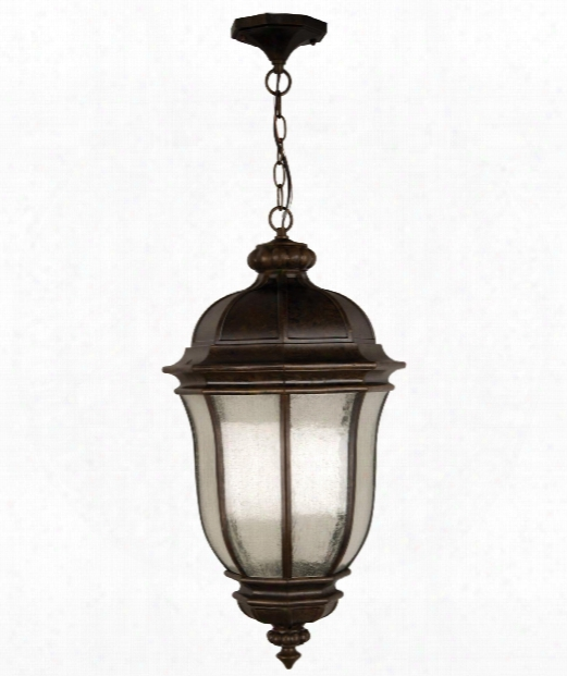 "Harper 12"" Led 1 Light Outdoor Outdoor Hanging Lantern In Peruvian Bronze"