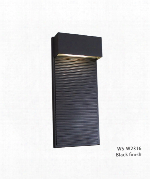 """Hiline 7"""" Led 1 Light Outdoor Wall Light In Black"""