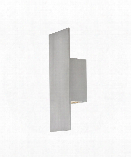 "Icon 3"" Led 1 Light Outdoor Outdoor Wall Light In Brushed Aluminum"