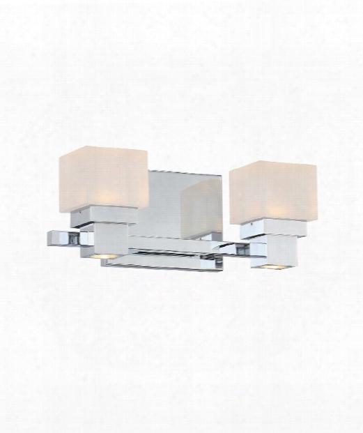 """Kube 12"""" Led 1 Light Bath Vanity Light In Chrome"""