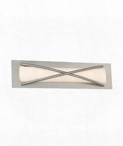 "Laced 5"" Led 1 Light Wall Sconce In Brushed Nickel"
