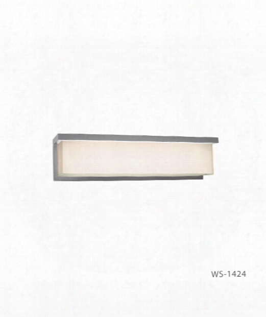 "Ledge 24"" Led 1 Light Bath Vanity Light In Brushed Aluminum"