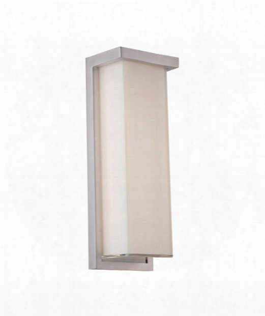 "Ledge 5"" Led 2 Light Outdoor Outdoor Wall Light In Brushed Aluminum"