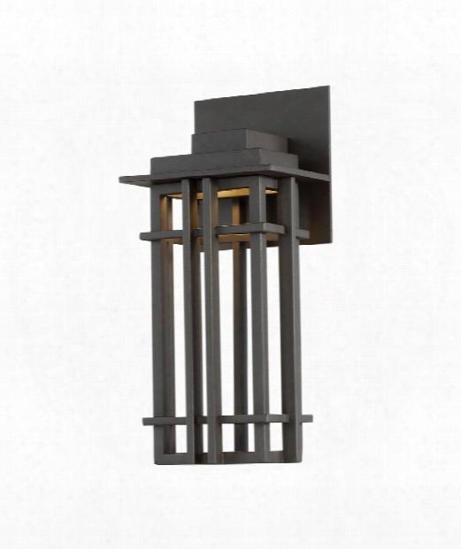 "Nest 5"" Led 1 Light Outdoor Outdoor Wall Light In Bronze"