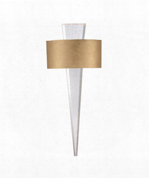 "Palladian 10"" Led 1 Light Wall Sconce In Gold Leaf"