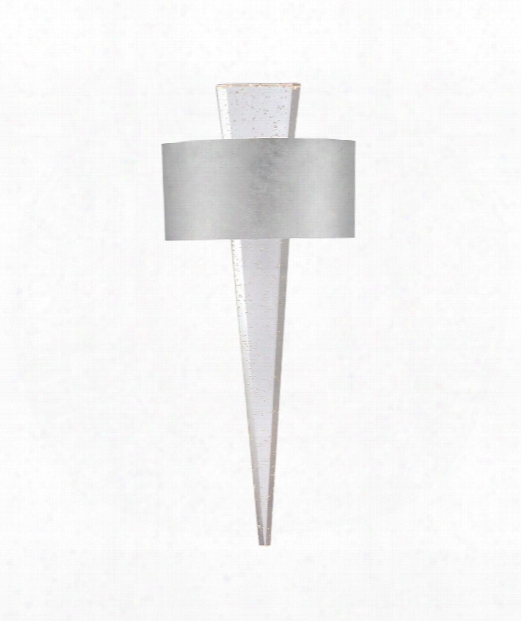 """Palladian 10"""" Led 1 Light Wall Sconce In Silver Leaf"""