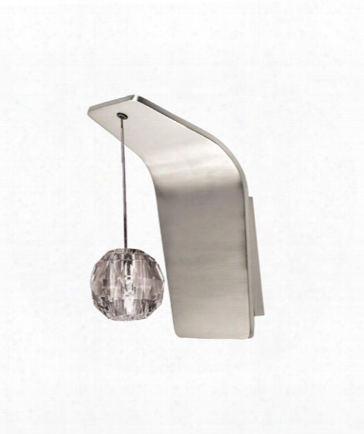 "Polaris 5"" 1 Light Wall Sconce In Brushed Nickel"