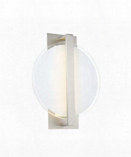 "Reflectance 14"" Led 1 Light Wall Sconce In Satin Nickel"