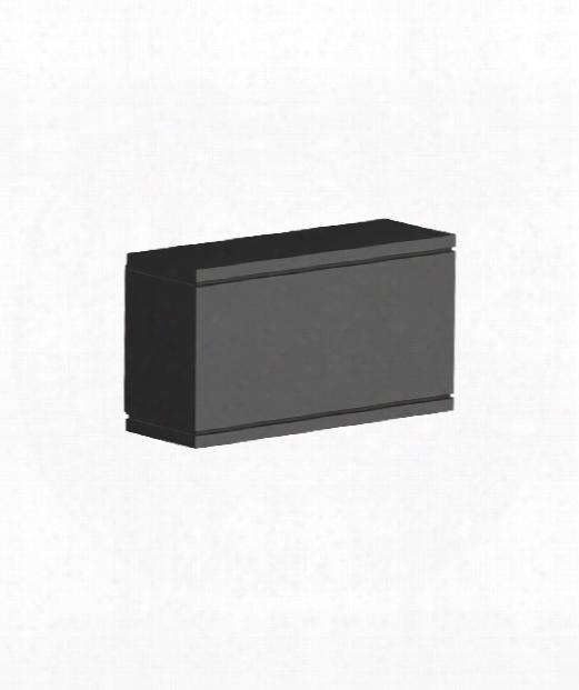 "Rubix 4"" Led 1 Light Outdoor Outdoor Wall Light In Black"