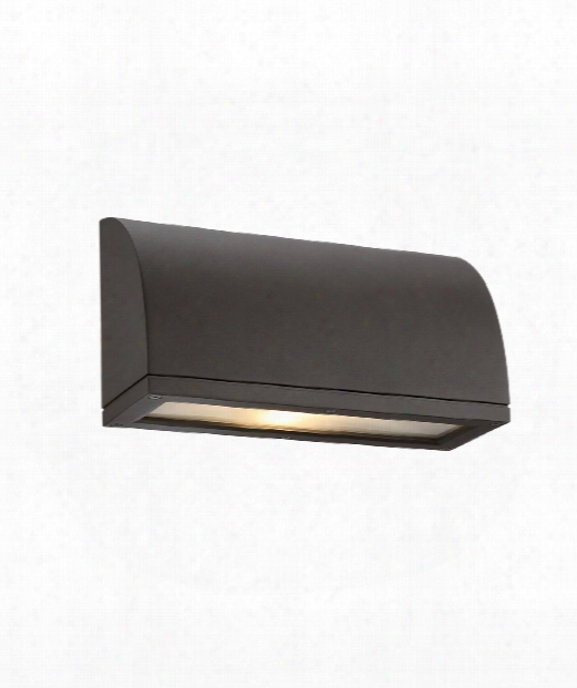 "Scoop 4"" Led 1 Light Outdoor Outdoor Wall Light In Bronze"