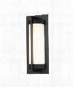 "Oberon 4"" LED 1 Light Outdoor Outdoor Wall Light in Black"